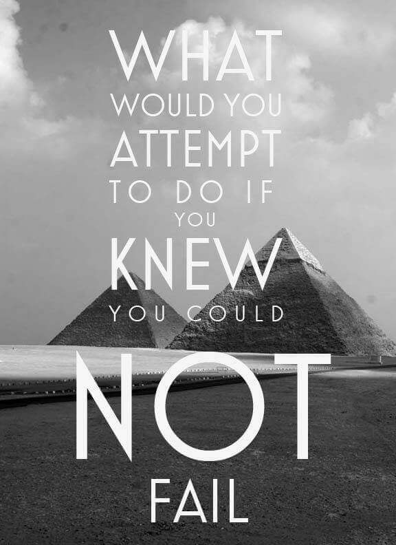 What would you do if you could not fail
