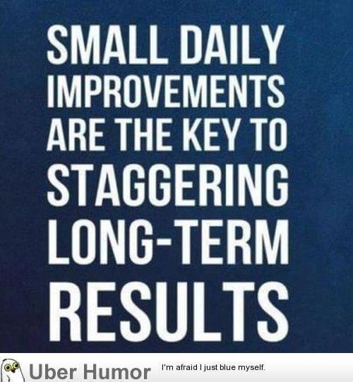 Kleine stappen leiden tot succes