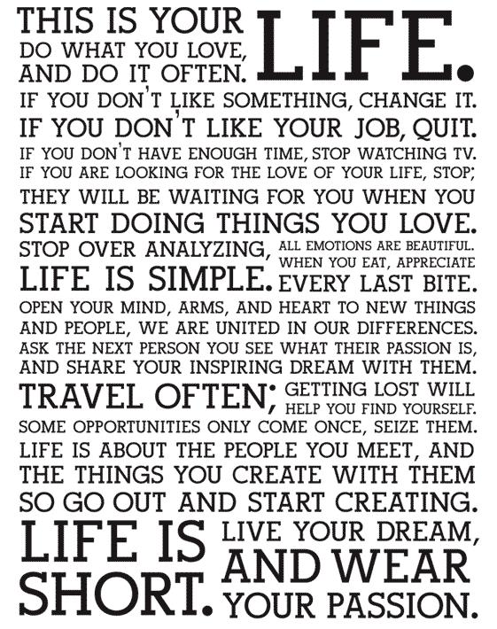 Dit is jouw leven
