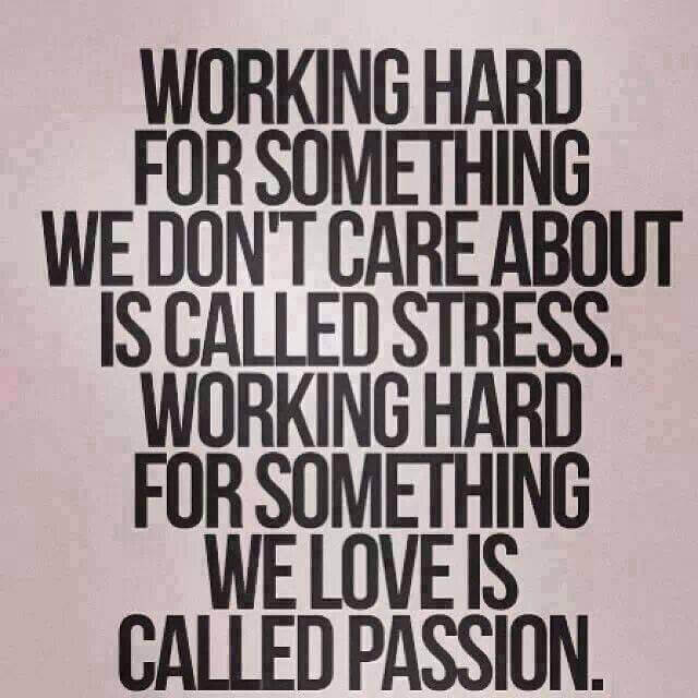 Difference between stress and passion