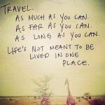 Travel as often as you can