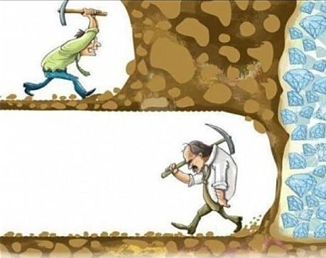 You never know when you are going to be succesful