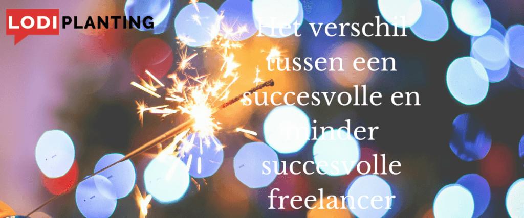 Het verschil tussen een succesvolle en minder succesvolle freelancer (www.lodiplanting.com)