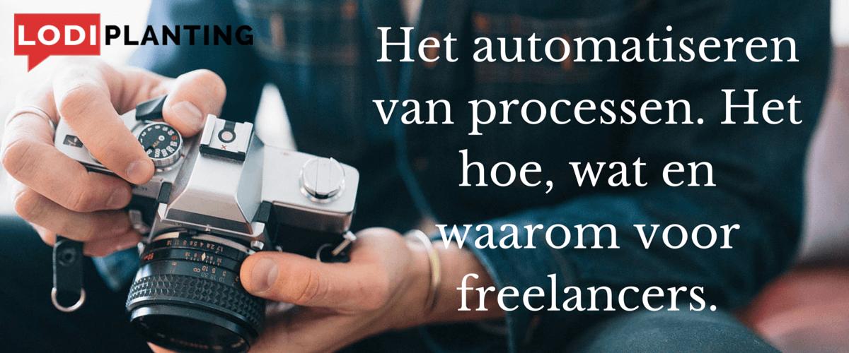 Het automatiseren van processen. Het hoe, wat en waarom voor freelancers. (www.LodiPlanting.com)
