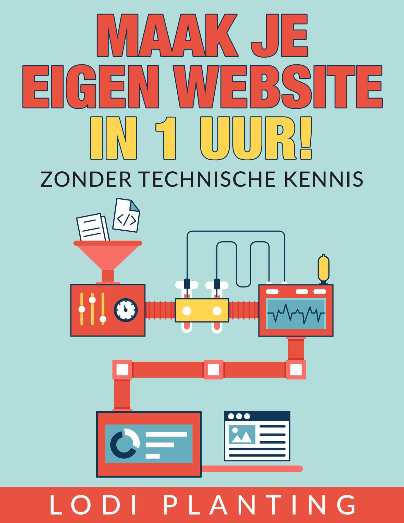 Download het e-boek - Maak je eigen website in 1 uur