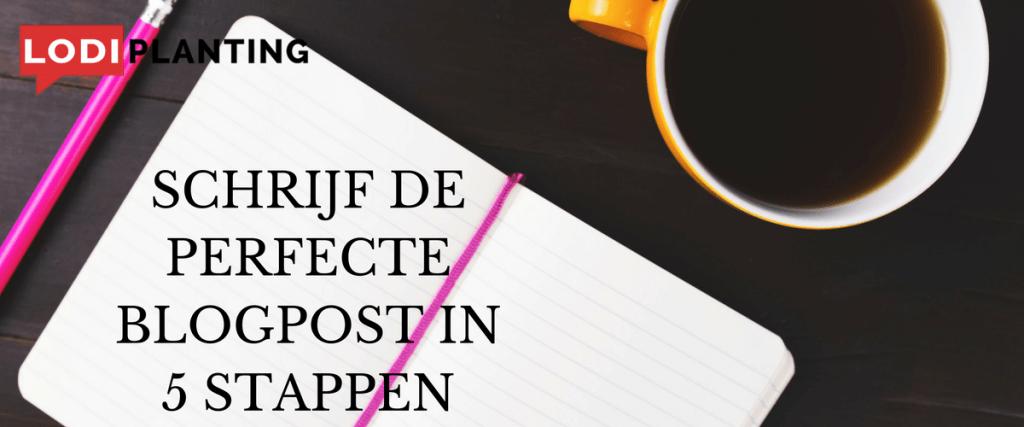 Schrijf de perfecte blogpost in 5 stappen (LodiPlanting.com)