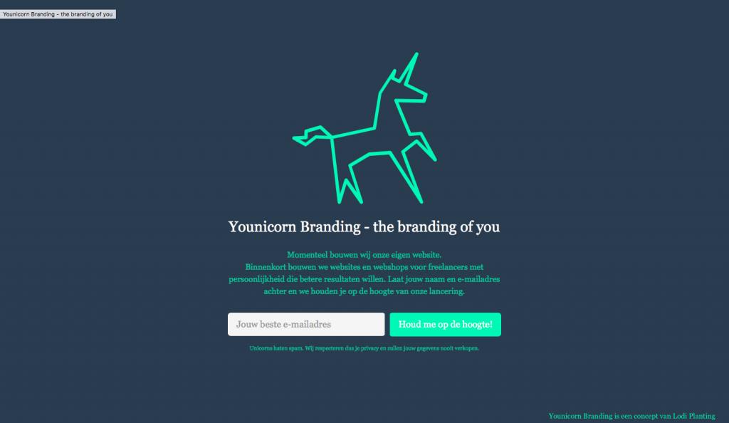 Landingspagina YounicornBranding.com (LodiPlanting.com)