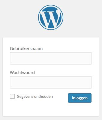Inloggen op je WordPress website