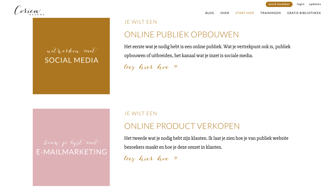 Start hier pagina Corien Oenema (LodiPlanting.com)